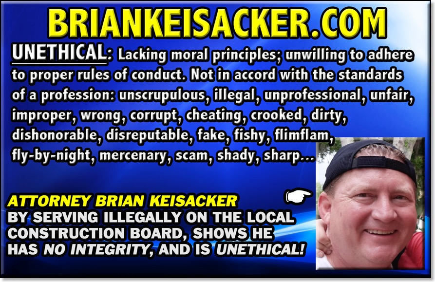 BRIAN KEISACKER UNETHICAL 156